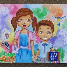Caleb and Sofia Idk who did this drawing but its very pretty Caleb Et Sophia, Jw News, Picture Music Video, Pioneer Gifts, Jw Pioneer, Pinturas Disney, Jw Gifts, Fruit Of The Spirit, Jehovah's Witnesses