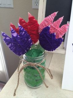 Mother's Day Yarn Tulips