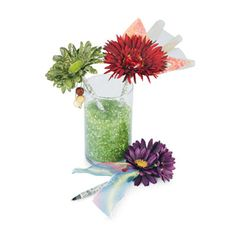 Are you tired of people walking off with your pens? These are great for your desk and you can make a bunch and have a bouquet of flowers that are actually pens!