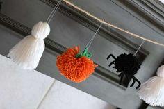Pumpkin Yarn Garland