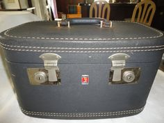 Gray Neverbreak Luggage Train Case Travel Case by TammysFindings