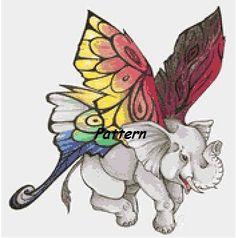 Fairy Elephant. Cross Stitch Pattern. PDF by ExclusiveXPatterns