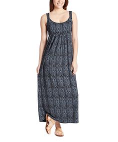 Another great find on #zulily! Fresh Produce Black Geo Wave Malibu Maxi Dress by Fresh Produce #zulilyfinds