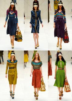 blues, plums, yellows and ethnic prints by Burberry Prorsum 2012  *swooooon* *swoon!*