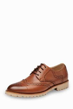 Fashion Brogue Men's Shoes In Brown