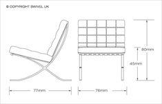Mies Van Der Rohe Style | Barcelona Style Chair Style | SWIVELUK.COM