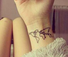 wrist map tattoo idea | Tattoo | Pinterest | Map tattoos, Tattoo and ...