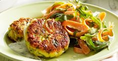 Let Curtis Stone feed your family with his delicious couscous fritters with shaved asparagus and carrot salad.
