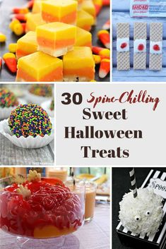 Looking for some delicious Halloween desserts for your scary party? Check out our list of 30 Spine Chilling Halloween Treats here! #Halloween #HalloweenDesserts #HalloweenTreats #HalloweenFood #HalloweenParty #DIYHalloween Best Dessert Recipes, Sweet Desserts, Candy Recipes, Cupcake Recipes, Delicious Desserts, Breakfast Recipes, Yummy Food, Yummy Recipes, Cute Halloween Food