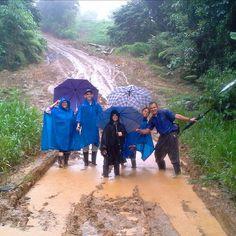 In field service in the jungle, Cabecar indigene language, Talamanca, Costa Rica.