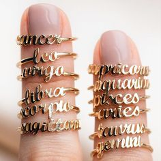 What's your sign? The stars have spoken and the solid gold Zodiac Rings from Charlie and Marcelle are the perfect way to rep your sign. These little cuties are dainty enough for stacking, pile on the whole family! Shop these beauties not at LocalEclectic.com