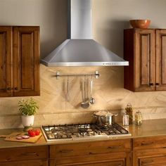 Best 36 Inch Wall Mount Chimney Range Hood with 600 CFM Internal Blower, Halogen Lamps, Electronic Push Button Control, Heat Sentry and Stainless Steel Mesh Filters Stove Vent Hood, Kitchen Vent Hood, Kitchen Stove, Kitchen Reno, Kitchen Backsplash, Stove Hoods, Stone Kitchen, Gas Stove, Backsplash Ideas