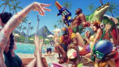 Download League of Legends Pool Party Wallpaper 3840x2160