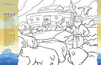 Old Testament Reading Chart- It's a picture of Noah & the ark.  As you do the weekly reading suggestions, you can color in the spaces with the number for the week.  (Right now we still have this Friend in Logan's closet.)