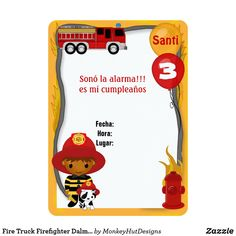 Fire Trucks, Baby Shower Invitations, Firefighter, Lunch Box, Stickers, Birthday, Kids, Ideas Cumpleaños, Salvador