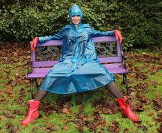 Womensyellow Raincoat With Hood Vinyl Raincoat, Blue Raincoat, Pvc Raincoat, Plastic Raincoat, Hooded Raincoat, Imper Pvc, Raincoats For Women, Beautiful Girl Image, Rain Wear