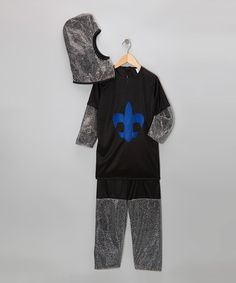 Another great find on #zulily! Black & Royal Chain Mail Knight Dress-Up Set - Toddler & Kids #zulilyfinds