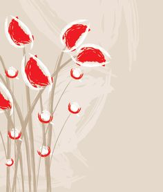 Artistic Flowers, DryIcons.com #drawing #illustration #flowers