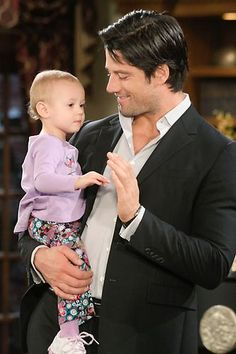 "Sydney and her Daddy EJ DiMera. ""#Days of our Lives"""