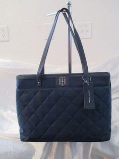Tommy Hilfiger Handbag Tote 6932753-423 Color Blue Retail Price $ 118.00 #TommyHilfiger #Totes