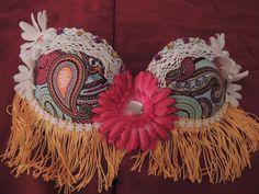 Hippie Love Flower Bra Top by GlitzedGoodsbyJamie on Etsy, $70.00