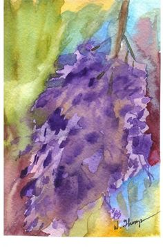 Wisteria Abstract by Warren Thompson