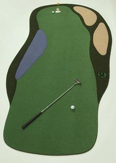Indoor Putting Green Model 511 Comes With A Lake, 2 Sand Traps, 1 Cup, 1  Contour Pad And 1 Backstop.