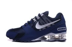 Mens Nike Shox NZ Dark Blue Silver Athletic Running Shoes Trainers DC003586 Popular Nike Shoes, Cheap Nike Shoes Online, Wholesale Nike Shoes, Nike Shoes For Sale, Mens Nike Shox, Nike Shox Nz, Nike Sportswear, Nike Lebron, Nike Air Max