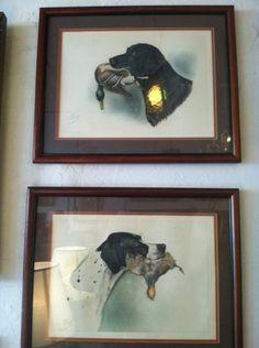 Pair of Framed Dog Portraits