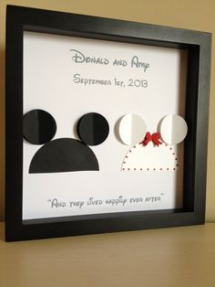 Disney Wedding 3d Paper Art Customize for the by PaperLine @jen Martinez I think you need to add this to your DIY list!