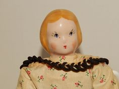Vintage-1940s-Ruth-Gibbs-Godeys-Little-Lady-China-Head-Dolls