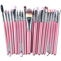 Makeup Brush Set, Besde 20PCS Cosmetic Makeup Brush Lip Makeup Brush Eyeshadow Brush (20pcs, Pink) >>> To view further for this item, visit the image link. (This is an affiliate link) #BrushSets
