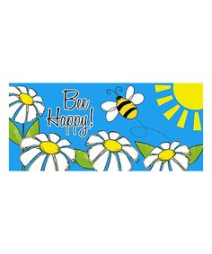 Take a look at this Welcome 'Bee Happy' Switch Doormat today!