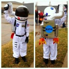 christmas costumes for kids Homemade astronaut costume for kids Family Halloween, Holidays Halloween, Halloween Crafts, Halloween Party, Halloween Costumes, Christmas Costumes, Halloween 2019, Space Costumes, Boy Costumes