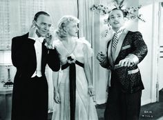 Fred Astaire, Ginger Rogers, & Erik Rhodes in The Gay Divorcee. I wish Erik Rhodes would have been in more of their movies. I love these three together!