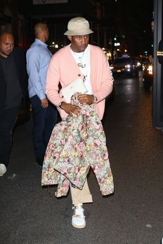 afbb61ac7c2e Tyler The Creator wearing Golfwang Bee Cardigan