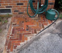 Mortarless Paving Tutorial - great project - you can use bricks, pavers or reclaimed bricks.