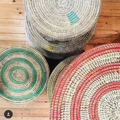 Baskets in all sorts of colours! Only a few in each store...just lovely ❤️️#cheltenham #leamingtonspa #fulham #marylebone #kensington…