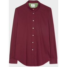 Paul Smith Men's Slim-Fit Washed Burgundy Cotton And Wool-Blend Shirt (9.675 RUB) ❤ liked on Polyvore featuring men's fashion, men's clothing, men's shirts, men's casual shirts, mens long sleeve cotton shirts, mens slim fit long sleeve shirts, burgundy mens shirt, mens long sleeve shirts and mens extra long sleeve shirts