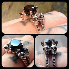 Skull wedding ring, because obviously.
