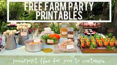 These farm party free printables are fully customisable, so you can personalise them for your child. It's easy to make your child's farm party totally rock! Garden Birthday, Farm Birthday, 2nd Birthday Parties, Birthday Ideas, Birthday Celebrations, Farm Themed Party, Barnyard Party, Party Printables, Free Printables