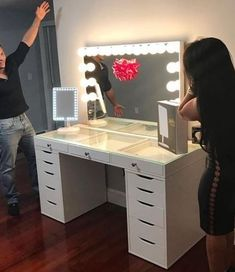 SlayStation® Plus Vanity Table (Pre-sale: Expected Ship Date May 5 drawer Ikea Alex drawer, Table top from impressions vanity. Can come with and without the vanity mirror. Link will lead you to the table top, without the mirror.