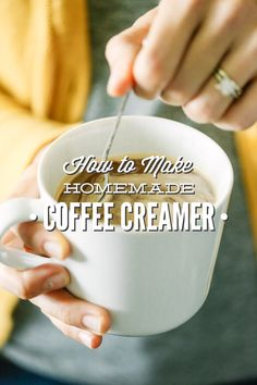 A delicious homemade coffee creamer made with 100% real food ingredients. No canned ingredients! No sweetened condensed milk!