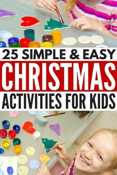 Looking for easy, fun, and (somewhat) educational Christmas activities for kids to keep your little ones entertained during the holidays? Look no further! We've rounded up 21 games, activities, and crafts, as well as a few printables we absolutely adore to get them in the holiday spirit and keep them from climbing the walls on bad weather days.