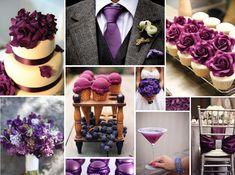 {purple petals} dark purple wedding