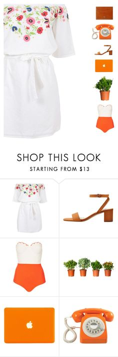 """""""Vintage beach vibes"""" by genesis129 ❤ liked on Polyvore featuring Pampelone, MANGO, Topshop, GPO, S.T. Dupont and vintage"""