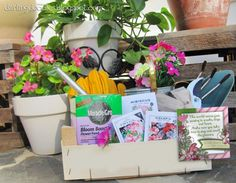 Gift for Gardner - If you are looking for a gift idea for someone who knows the secret to gardening then how about a gift basket that will have them looking forward to spring and all things that grow?