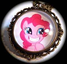 PINKIE PIE . Glass My LITTLE Pony Pendant Necklace by girlgamegeek, $11.11