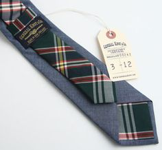 Chambray & Tartan Necktie / General Knot & Co.