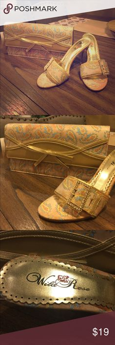 Shoes and matching Purse Wild Rose marching Shoes and Purse, brand NEW!!! Size 8. Wild Rose Accessories